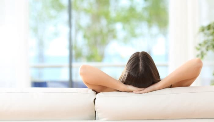 Woman Sitting Relaxing